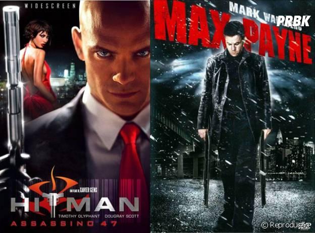 """""""Hitman"""" e """"Max Payne"""" são jogos que ação que viraram filmes mas não emplacaram"""