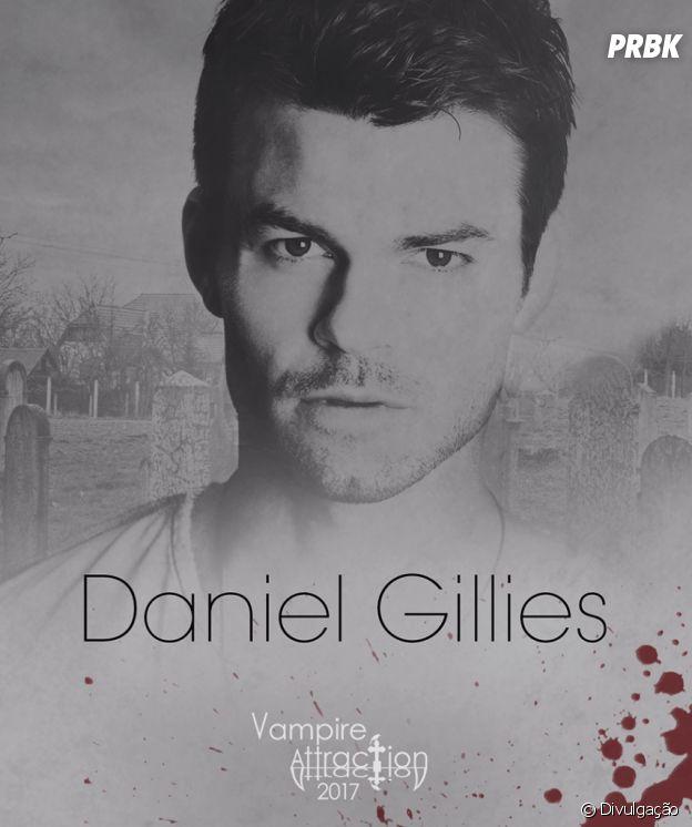 """Daniel Gillies, o Elijah de """"The Originals"""", também é uma atração da Vampire Attraction"""