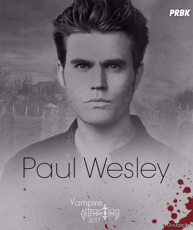 "Paul Wesley, o Stefan de ""The Vampire Diaries"", vem para a Vampire Attraction no Rio de Janeiro"