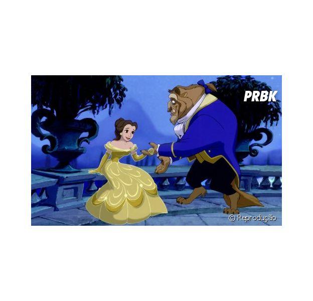Cena da animação A Bela e a Fera, da Disney