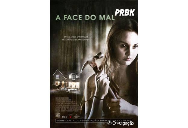 """Cartaz de """"A Face do Mal"""", terror estrelado por Liana Liberato"""