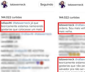 Rafael Vitti e Tatá Werneck não pouparam palavras!
