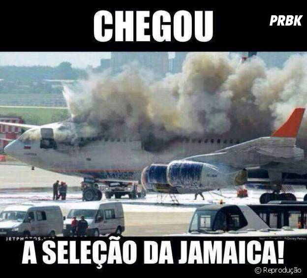 Seleção da Jamaica chegou pra Copa!