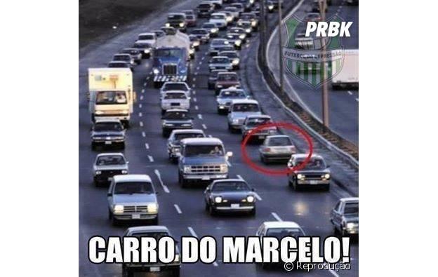 Acharam o carro do Marcelo!
