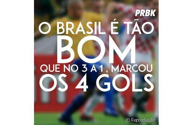 Brasil fez os 4 gols do jogo!