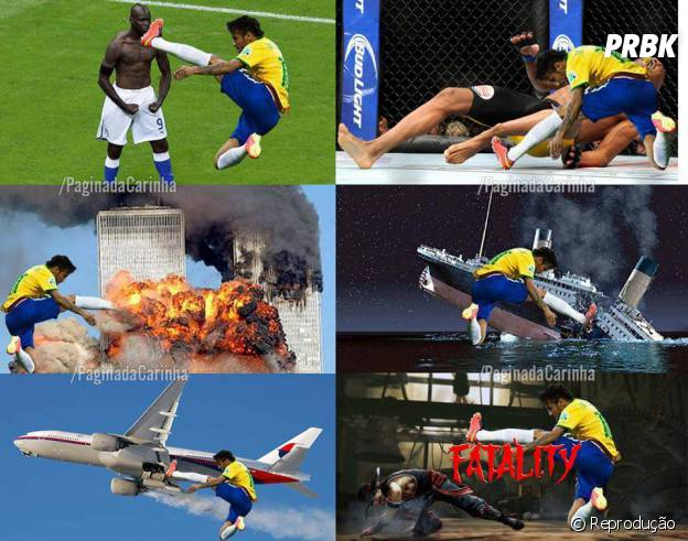 Neymar ataca de voadora!