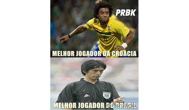 Melhor jogador do Brasil e da Croácia.