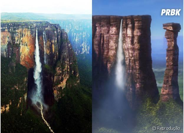 A Cachoeira Paradise é uma clara referência a Cachoeira dos Anjos, na Venezuela