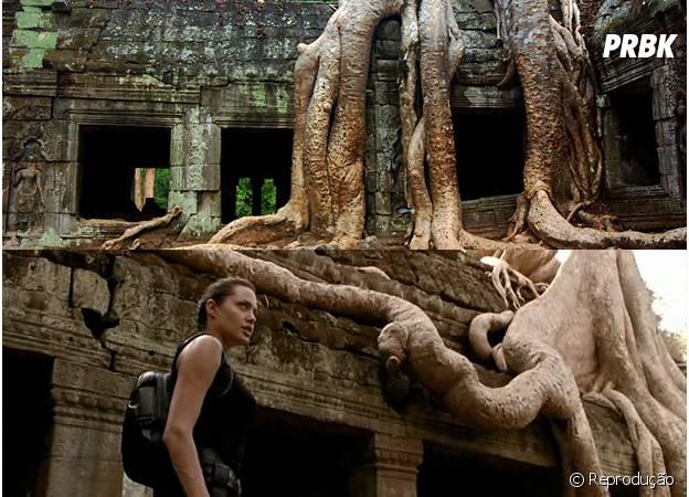 O Templo de Angkor Wat, no Camboja, foi cenário do filme Tomb Raider