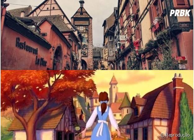 A região da Alsácia aparece retratada na vila de A Bela e a Fera