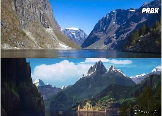 As paisagens de Gudvangen inspiraram o filme Frozen