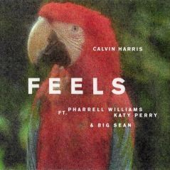 "Katy Perry, Pharrell Williams e Big Sean cantam juntos em ""Feels"", nova música de Calvin Harris!"