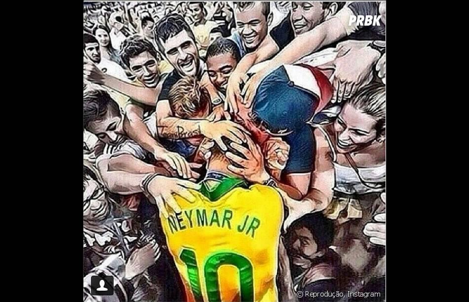 Neymar ganha homenagem de Fred