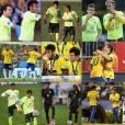 O jogador Bernard faz montagem de fotos para homenagear Neymar
