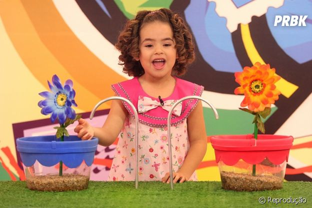 """Maisa durante o programa """"Bom Dia e Cia"""", exibido pelo SBT"""