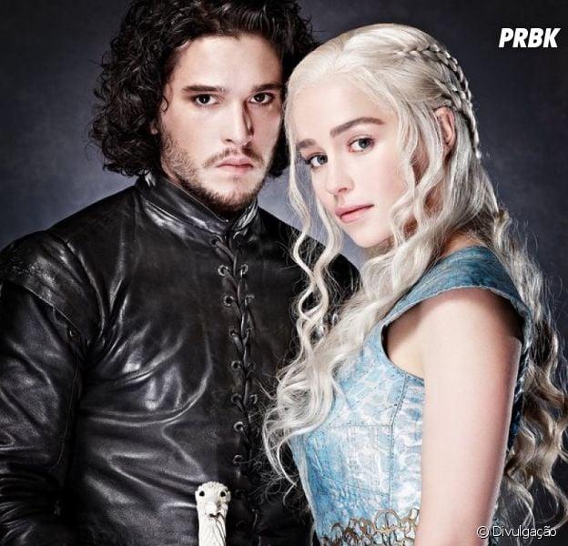 "De ""Game of Thrones"": Kit Harington e Emilia Clarke comentam sobre a química entre Jon Snow e Daenerys!"
