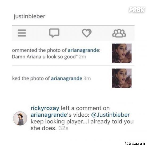 Justin Bieber levou fora do namorado de Ariana Grande após fazer comentário elogiando a jovem