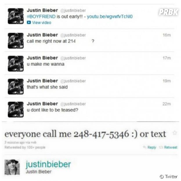 Justin Bieber divulgou um suposto número de telefone e incomodou o verdadeiro dono da linha