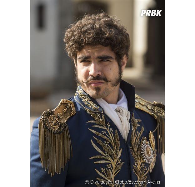"""Em """"Novo Mundo"""", o príncipe Dom Pedro (Caio Castro) vai perdir perdão para sua esposa Leopoldina (Letícia Colin)"""