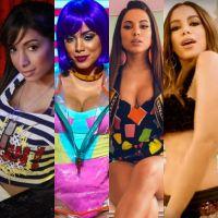 """Anitta e sua evolução de clipes: de """"Menina Má"""" a """"Paradinha"""", veja como tudo mudou!"""