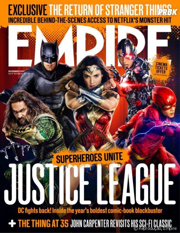 """Nova capa da Empire mostra mostra heróis da """"Liga da Justiça"""" reunidos!"""