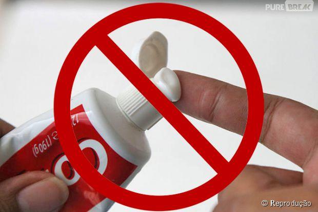 Não use pasta de dente em queimadura!