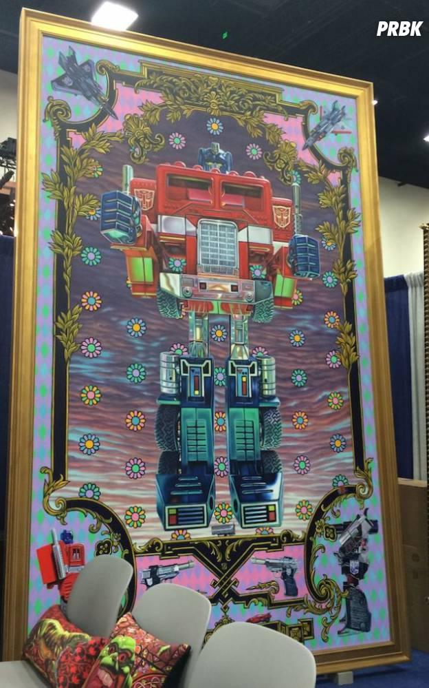 Optimus Prime à óleo, de Robert Xavier Burden à venda na Comic-Con San Diego