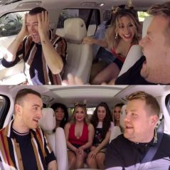 "Sam Smith conhece Fifth Harmony no ""Carpool Karaoke"" e canta ""Work From Home"" com a girlband!"