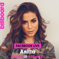 Anitta será entrevistada pela Billboard americana em live do Facebook nesta segunda-feira (6)