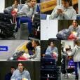 A atriz Bruna Marquezine foi fotografada desembarcando no aeroporto do Galeão por fãs