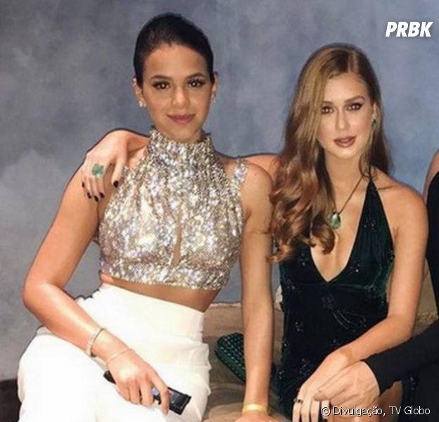 """Veja Bruna Marquezine e Marina Ruy Barbosa dançando funk nos bastidores de """"Deus Salve o Rei"""""""