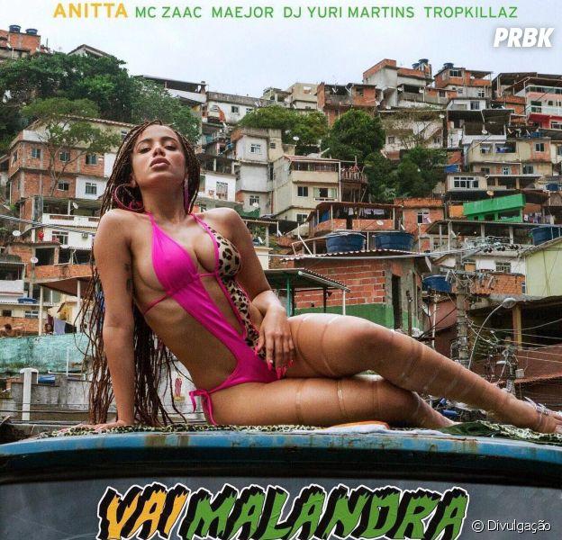 """Anitta surge sexy na capa do single """"Vai Malandra"""""""