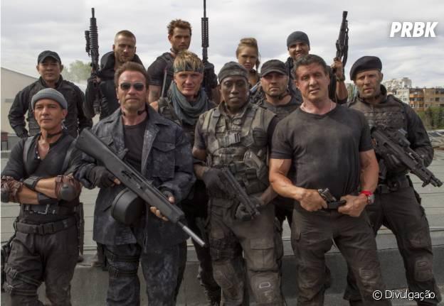 """""""Os Mercenários"""" traz um elenco formado pela tropa de elite dos filmes de ação"""