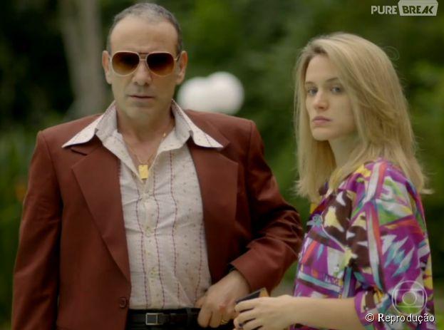 """Em """"Boogie Oogie"""", Rafael (Marco Pigossi) descobrirá que Vitória (Bianca Bin) não é filha de Fernando (Marco Ricca)"""