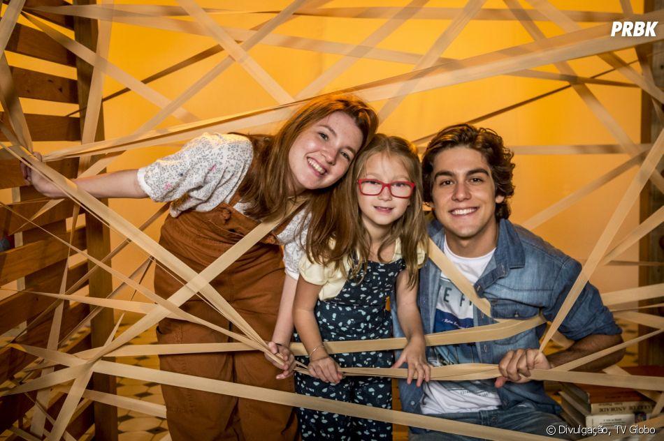 """A pequena Maria Rita é a pequena Mel, irmã de Flora (Jeniffer Oliveira) e Alex (Daniel Rangel) em """"Malhação - Vidas Brasileiras"""""""