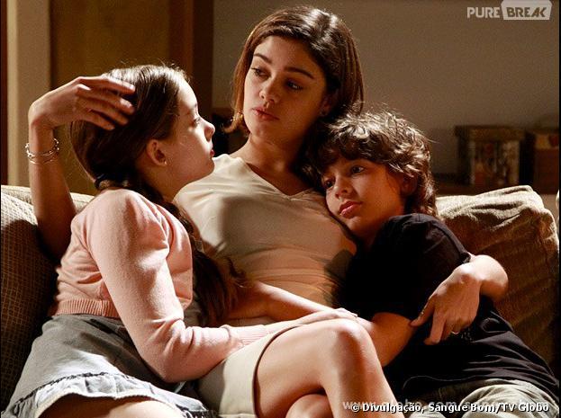"""Em """"Sangue Bom"""", Amora (Sophie Charlotte) ficou com a guarda dos sobrinhos, mas será presa na última semana!"""