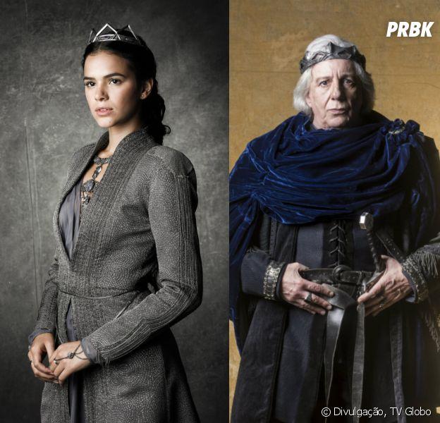 """Em """"Deus Salve o Rei"""":Catarina (Bruna Marquezine) vai mandar o ReiAugusto(Marco Nanini) para a cadeia"""