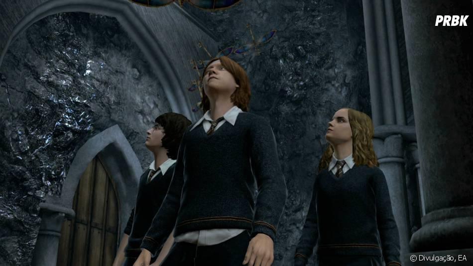 """""""Harry Potter for Kinect"""" é um jogo do bruxinho lançado em 2011"""