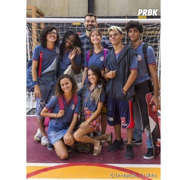 """Rostos novos em """"Malhação - Vidas Brasileiras""""! Veja quem são os bolsistas da ONG Percurso que chegam ao Colégio Sapiência"""