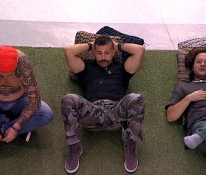 """No """"BBB18"""", Diego, Caruso e Kaysar reforçam aliança após Patrícia ser eliminada"""