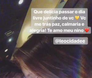 Larissa Manoela e Leo Cidade curtem folga juntinhos e atriz se declara