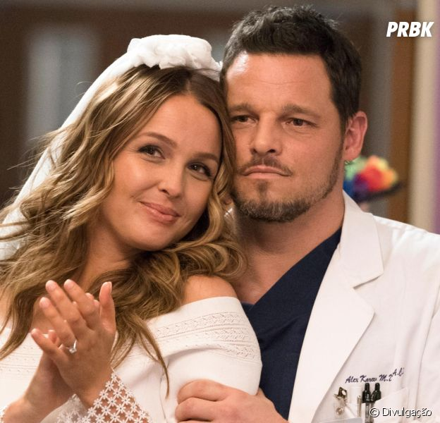 "De ""Grey's Anatomy"", foto revela casamento de Jo (Camilla Luddington) e Alex (Justin Chambers)"