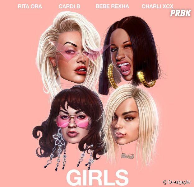 "Rita Ora se une à Cardi B, Bebe Rexha e Charli XCX para lançar o sucesso ""Girls"""