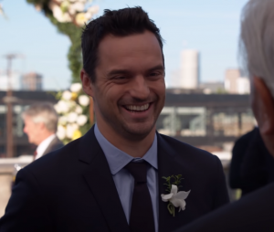 "No final de ""New Girl"", Nick (Jake Johnson) está pronto para casar com Jess (Zooey Deschanel)"