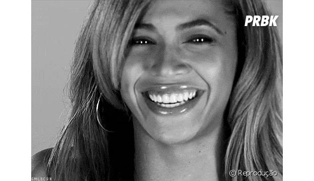 Beyoncé é dona de um belo sorriso