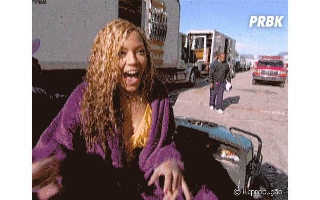 Beyoncé mostra que é como qualquer mortal