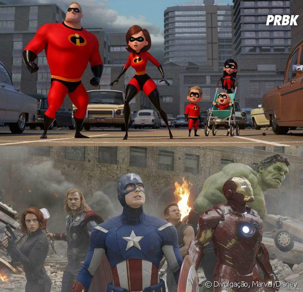 """E se os heróis de """"Vingadores"""" e """"Os Incríveis"""" se unisse? Bom, alguém já pensou em como isso funcionaria"""