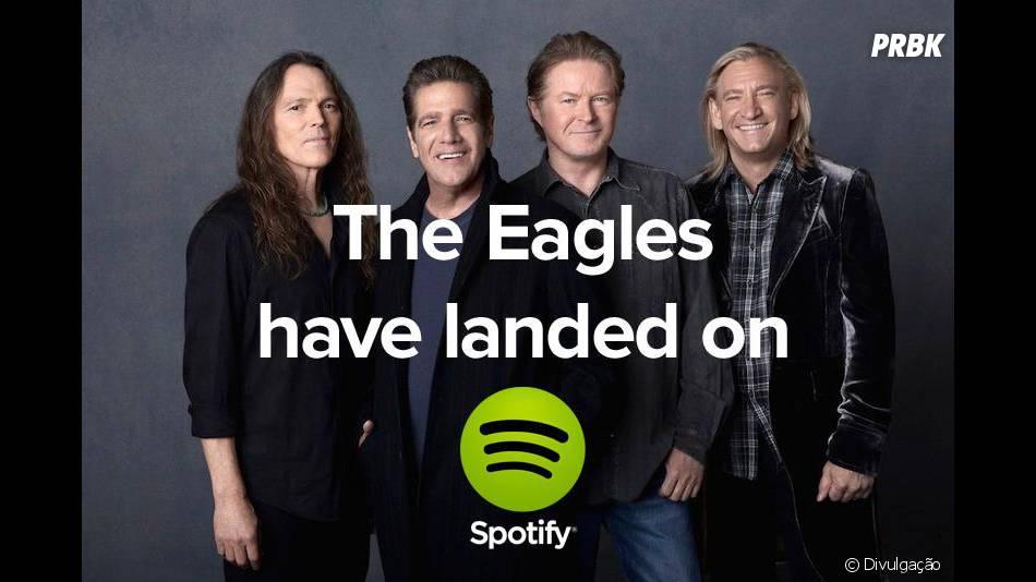 A banda The Eagles entrou recentemente no Spotify