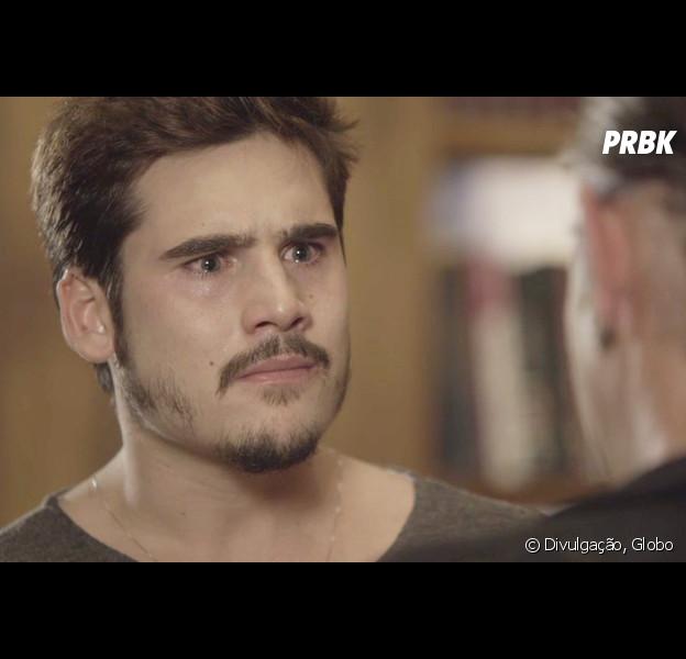 """Em """"O Tempo Não Para"""", Samuca (Nicolas Prattes) fica pobre após ser vítima de novo golpe"""