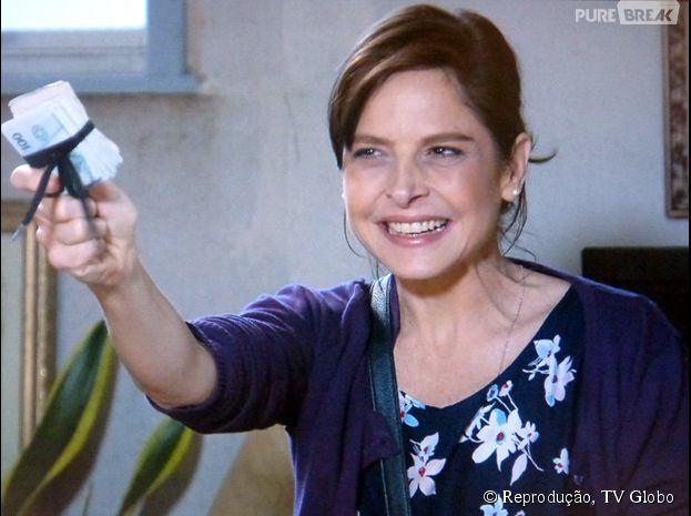 """Cora (Drica Moraes) irá ter vários sonhos eróticos, nos próximos capítulos da novela """"Império"""", da Globo"""